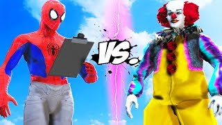 SPIDERMAN (INTO THE SPIDER-VERSE) VS PENNYWISE 1990 (CLASSIC)