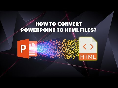 How To Convert PPT To HTML Files?