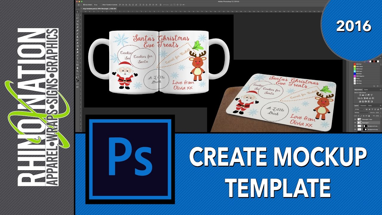 Creating Mockup Templates in Photoshop