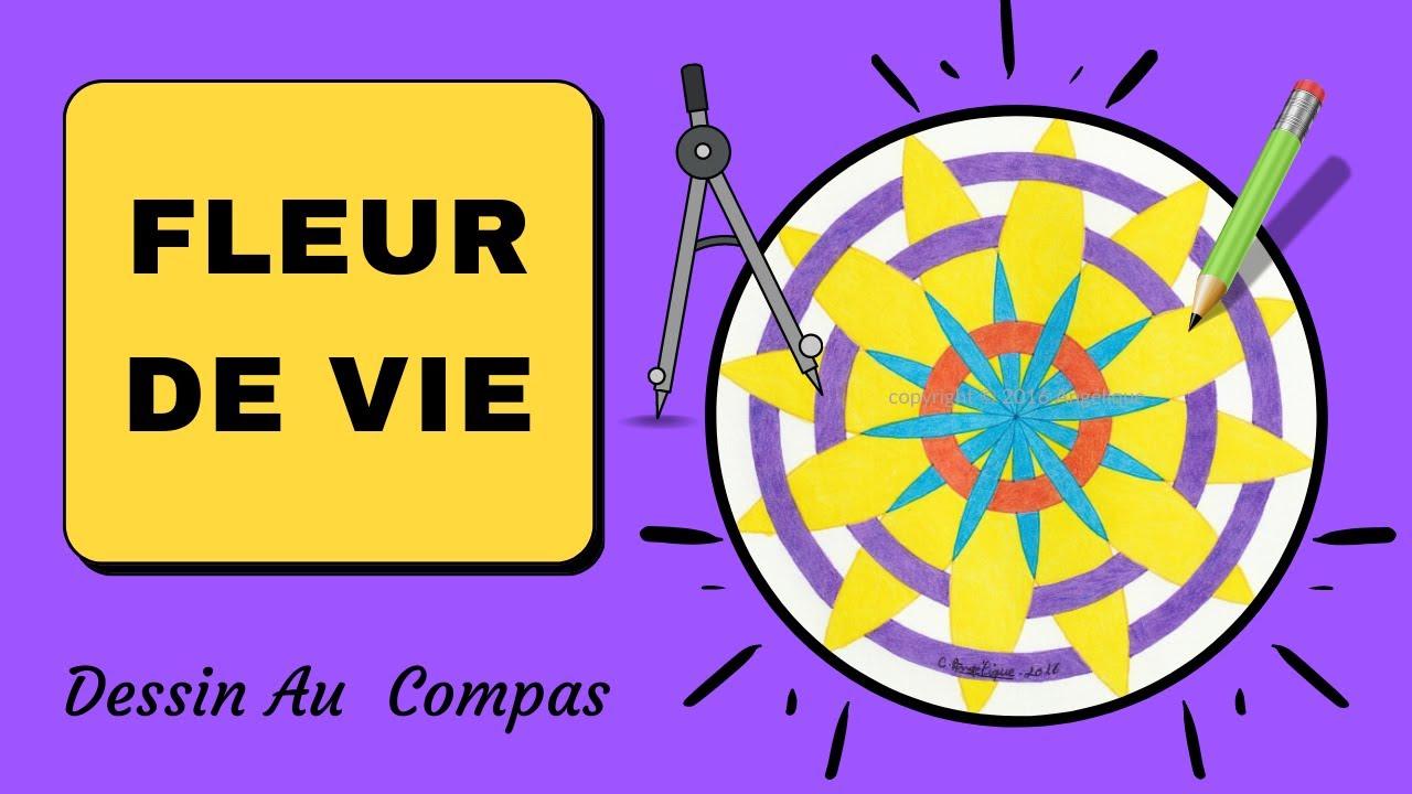 Dessin au compas 21 rosace fleur de vie youtube - Dessin de rosace ...
