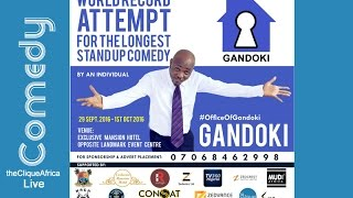 GANDOKI SET TO BREAK THE WORLD RECORD FOR THE LONGEST STAND –UP COMEDY LIVE STREAM