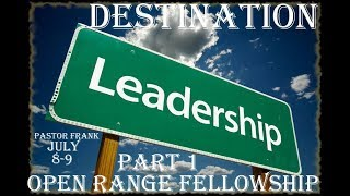 Destination Leadership - Part 1