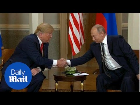 Donald Trump comes face to face with Vladimir Putin in Helsinki