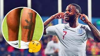 Raheem Sterling's tattoo which caused a huge scandal in England - Oh M