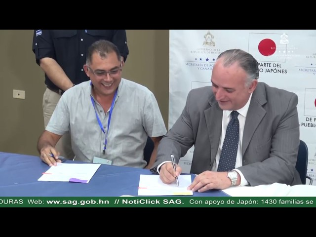 Con apoyo de Japón, 1430 familias se beneficiarán con proyectos para el sector agroalimentario