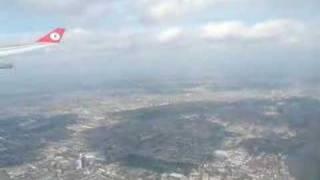 London from air - thy landing London heathrow