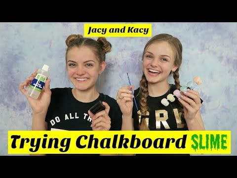 Trying Chalkboard Slime ~ Jacy and Kacy