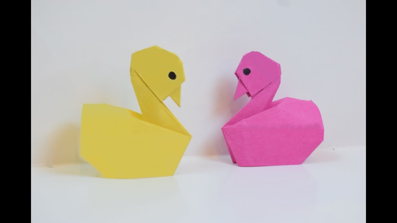 how to make a paper duck youtube