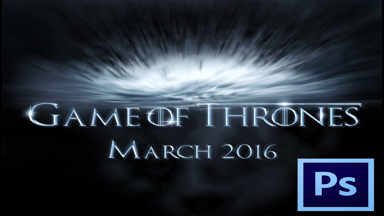 Poster design game - How To Design Typographic Game Of Thrones S6 Poster In Photoshop Cc