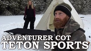 Teton Adventurer Cot Review & Assembly | Winter Camping Hot Tent