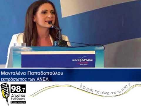 Η Μανταλένα Παπαδοπούλου στο Δημοτικό Ραδιόφωνο Ιωαννίνων 98.7 FM 16/11/2017
