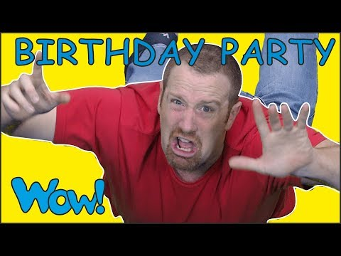 Birthday Party for Steve and Maggie with Bobby Magic for Kids | Free Speaking Wow English TV