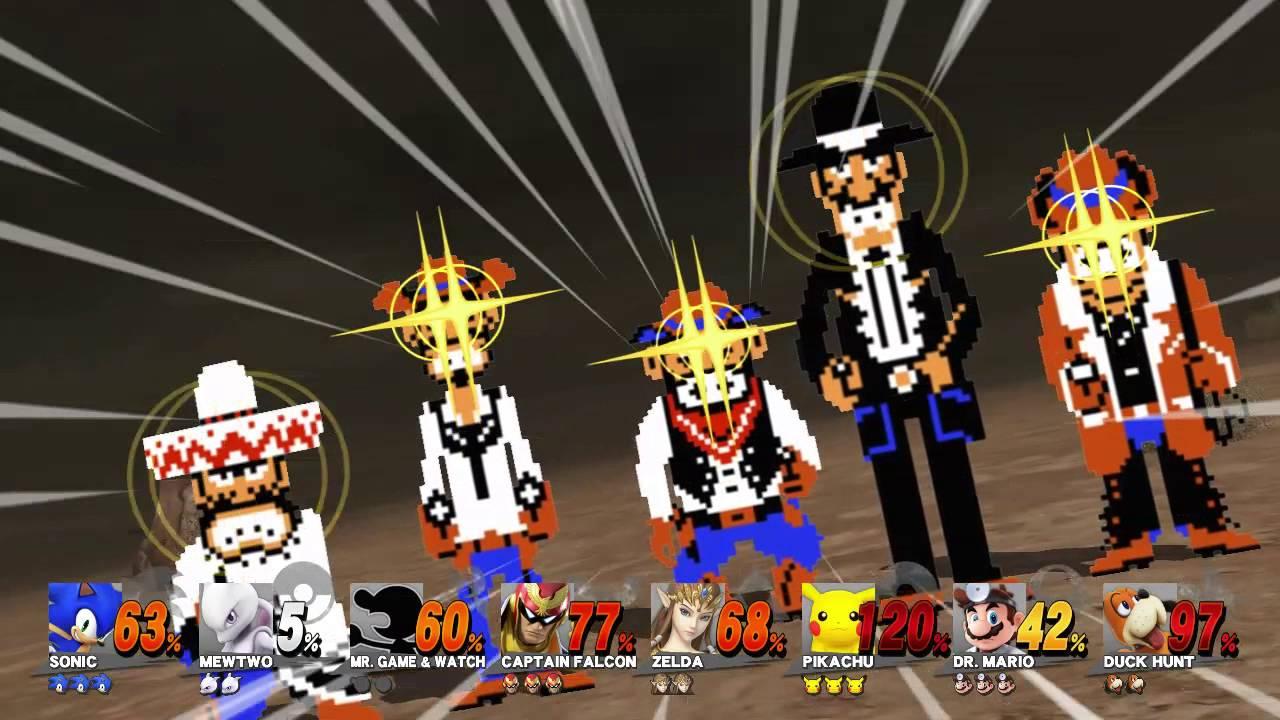 Sonic Vs Mewtwo Vs Mr Game Watch Vs Captain Falcon Vs Zelda Vs Pikachu Vs Dr Mario Vs Duck Hunt