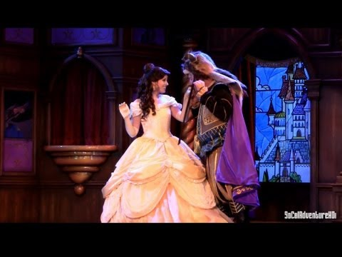 [HD] New Full Up-Close View of Beauty and the Beast Storytelling Show -Fantasy Faire at Disneyland