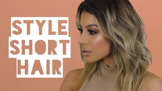 How I Style My SHORT Hair | Amys Makeup Box