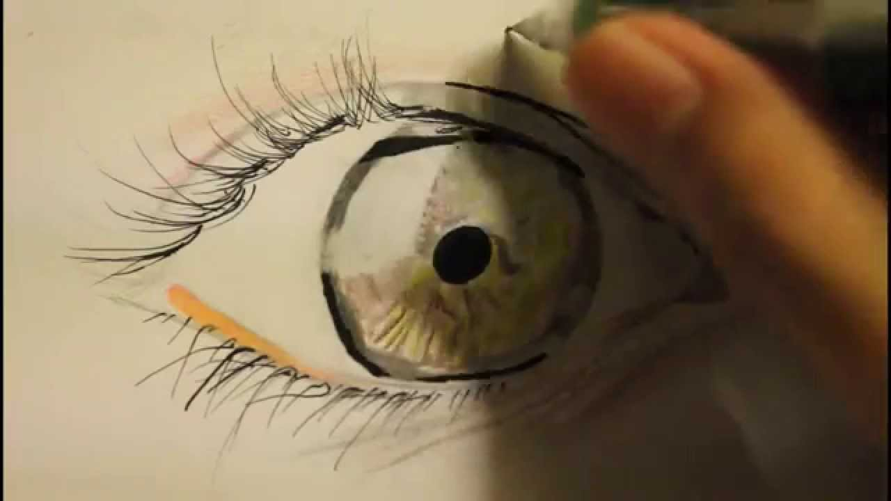 How To Draw Realistic Eye Step By Step Easy For Beginners With