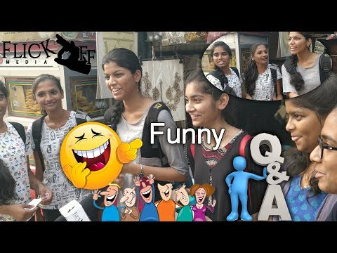 Funny Questions And Answers On Hyderabad Collage Girl's || Flick Off Media