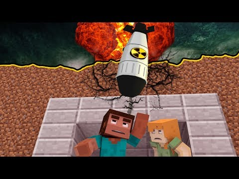 Minecraft | BUILD TO SURVIVE NUKE - Nuclear Bomb Explodes! (Nuke vs Base Challenge)