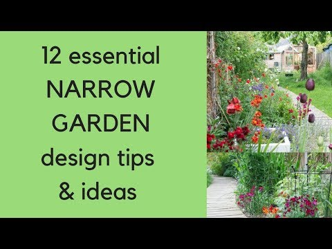12 Narrow Garden Design Tips And Ideas Youtube