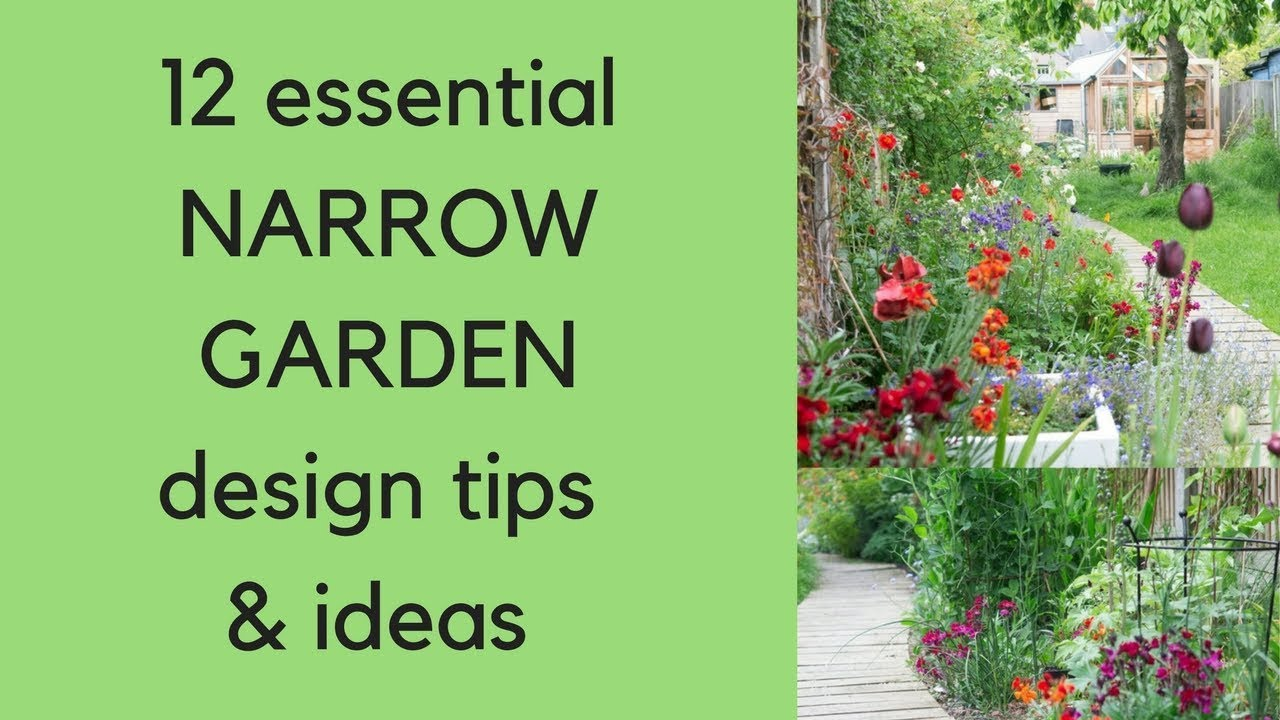 Narrow Garden Design Tips And Ideas
