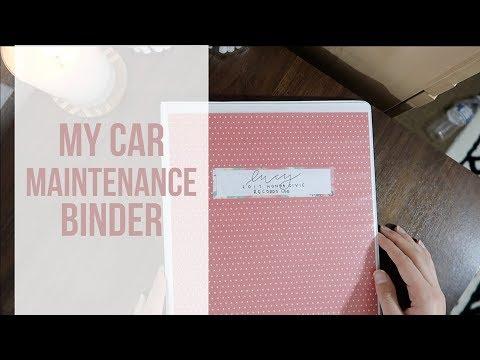 car maintenance binder vehicle records log youtube