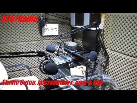 Podcast studio online radio station tour (update english)