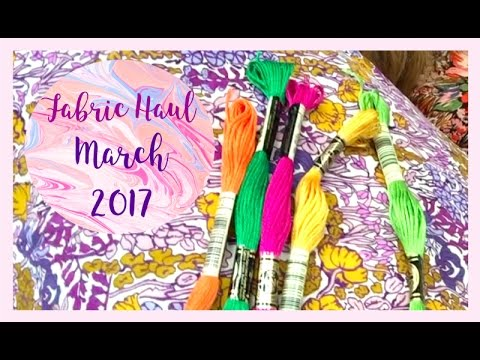 Fabric Haul and Sewing Plans: March