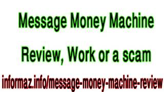 Message Money Machine Review - How to make $1000+ per day with affiliate marketing?