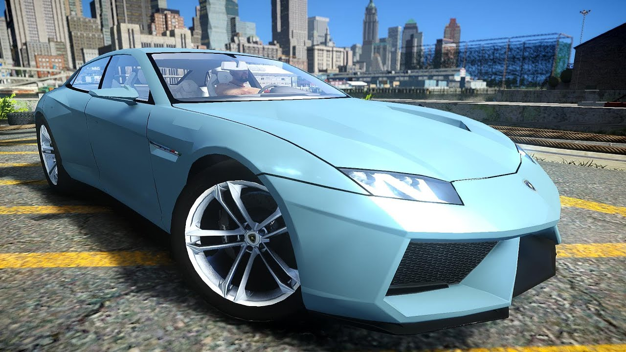 gta iv 2009 lamborghini estoque crash testing - youtube