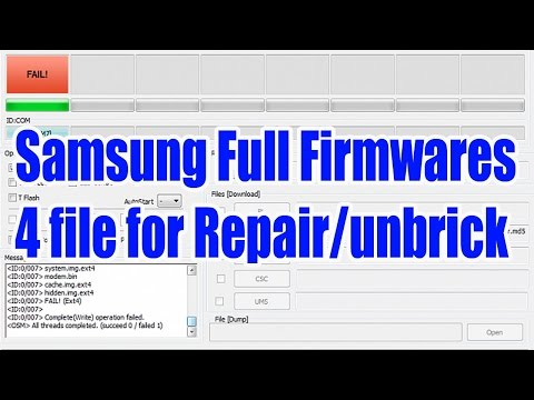How to extract Samsung 4files firmware from one file firmware - YouTube