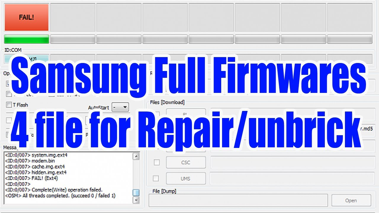 How to extract Samsung 4files firmware from one file firmware