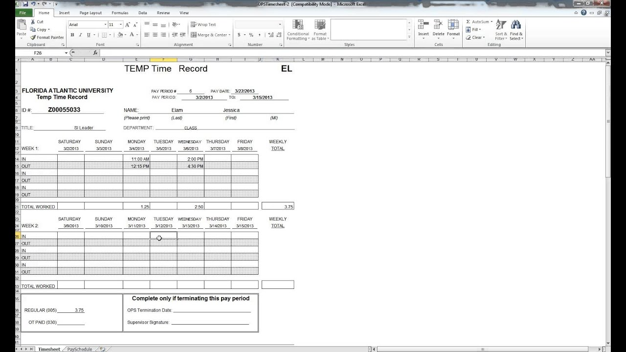 how to fill out a timesheet youtube