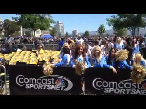 Warrior Girls At Warriors Parade Rally Oakland