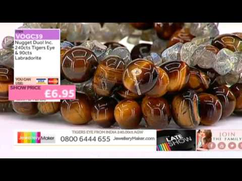 Silver Pearls and Zircon for jewellery making: JewelleryMaker late show LIVE 25/10/2014