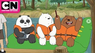 We Bare Bears | Ice Bear goes on a wild raft ride | Cartoon Network