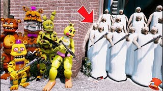 - CAN THE ANIMATRONICS DEFEAT EVIL GRANNY ARMY GTA 5 Mods Kids FNAF RedHatter