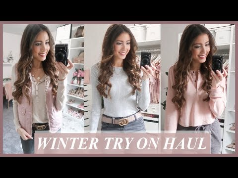 HUGE WINTER CLOTHING TRY ON HAUL | H&M, Express, Urban Outfitters, Nordstrom, Free People