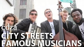 Repeat youtube video City Streets, Famous Musicians