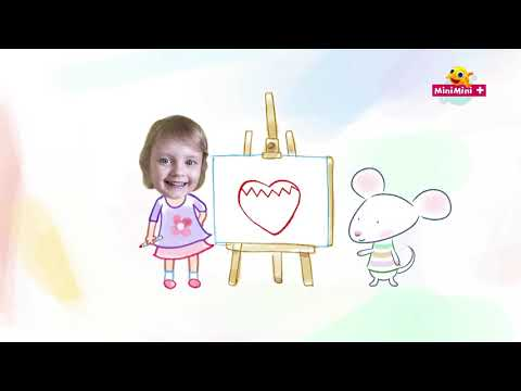 Rysuj z Myszką w paski | truskawka w kształcie serduszka + MiniMini+