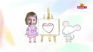 Rysuj z Myszką w paski   truskawka w kształcie serduszka + MiniMini+