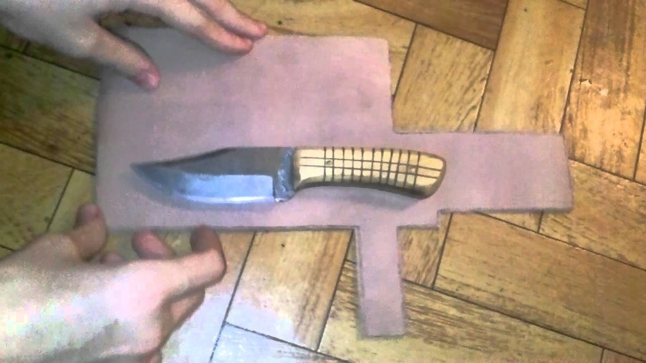 Funda para cuchillo part 1 youtube for Como pulir un cuchillo