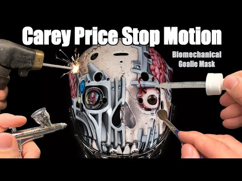 I made this stop motion video of painting Carey Price's goalie mask!!
