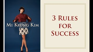 [Motivational Speech] Mi Kyung Kim - 3 Rules of Success