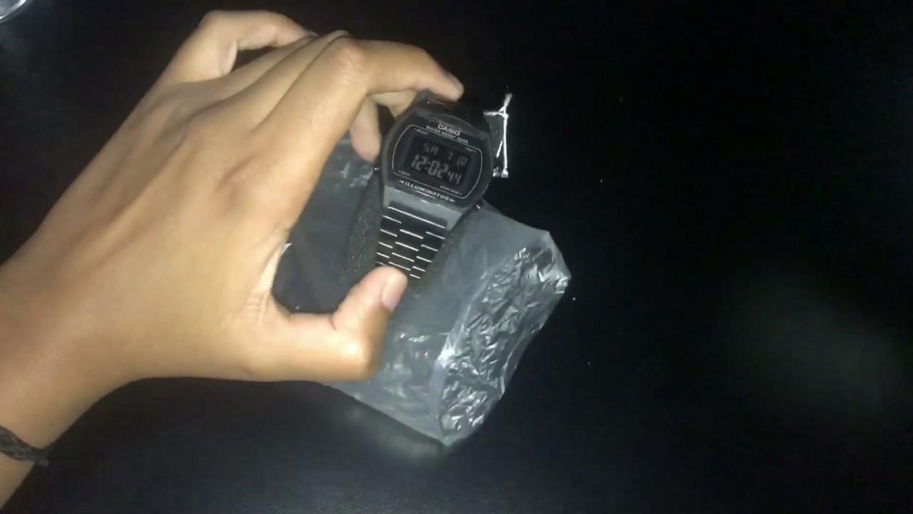 0ca700e8332 Relógio Casio vintage B640wb-1bef todo preto - YouTube