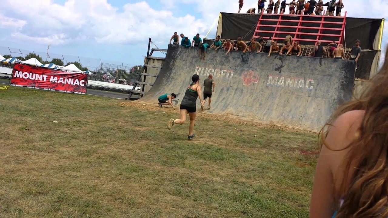 Final Wall At Rugged Maniac 2014   YouTube