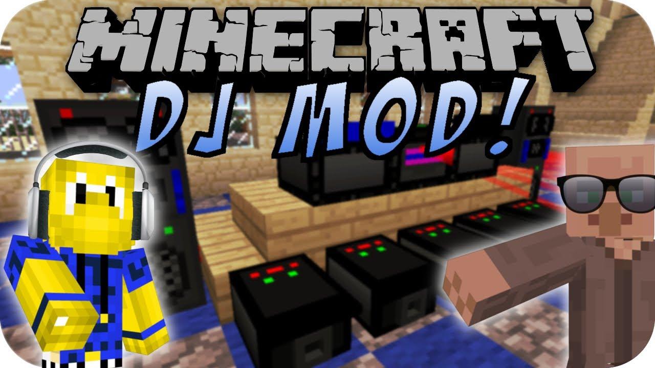 Minecraft Dj Mod Party Mod Deutsch Youtube