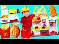 McDonalds Happy Meal Magic Drive Thru Food DIY + Drive Thru Pranks Cooking Burgers Fries and Shakes