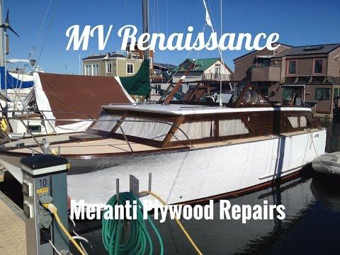 Wooden Boat Repair Tips, Meranti Mahogany Marine Plywood Aft Cabin