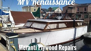 Wooden Boat Repair Tips, Meranti Mahogany Marine Plywood Aft Cabin