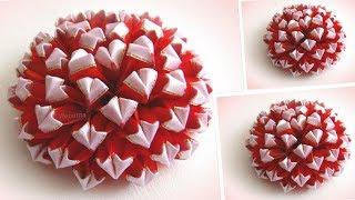 DIY flor de fita de cetim kanzashi